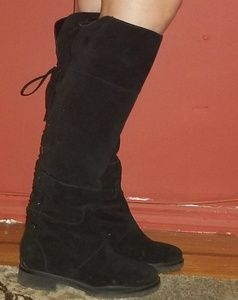 Nine West Shoes - Knee high flat suede boots